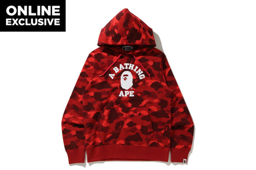 Picture No.3 of BAPE COLOR CAMO COLLEGE PULLOVER HOODIE -ONLINE EXCLUSIVE- 1H25-114-018
