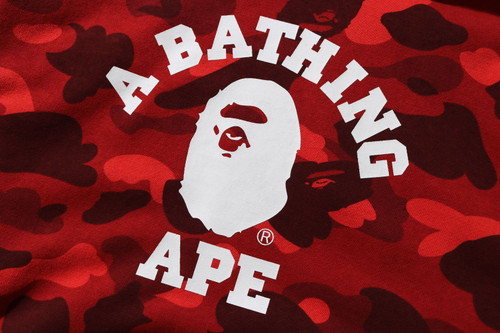 Picture No.4 of BAPE COLOR CAMO COLLEGE PULLOVER HOODIE -ONLINE EXCLUSIVE- 1H25-114-018