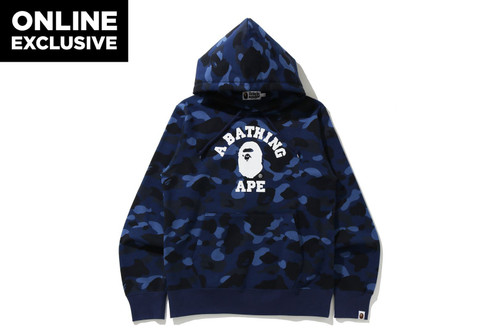Picture No.5 of BAPE COLOR CAMO COLLEGE PULLOVER HOODIE -ONLINE EXCLUSIVE- 1H25-114-018