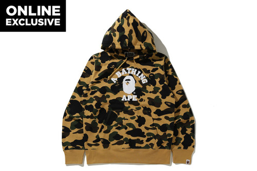 Picture No.1 of BAPE 1ST CAMO COLLEGE PULLOVER HOODIE -ONLINE EXCLUSIVE- 1H25-114-017