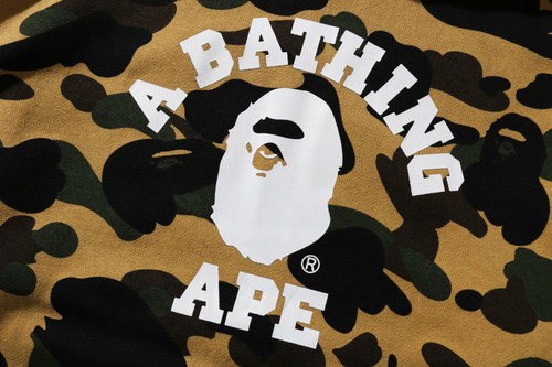 Picture No.2 of BAPE 1ST CAMO COLLEGE PULLOVER HOODIE -ONLINE EXCLUSIVE- 1H25-114-017