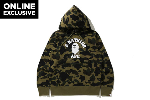 Picture No.3 of BAPE 1ST CAMO COLLEGE PULLOVER HOODIE -ONLINE EXCLUSIVE- 1H25-114-017