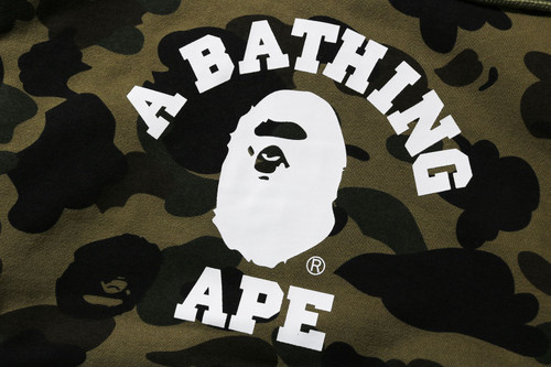 Picture No.4 of BAPE 1ST CAMO COLLEGE PULLOVER HOODIE -ONLINE EXCLUSIVE- 1H25-114-017
