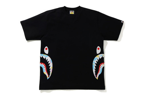 Picture No.1 of BAPE NEW MULTI CAMO SIDE SHARK RELAXED TEE 1H30-110-035
