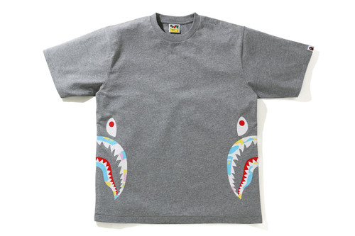 Picture No.4 of BAPE NEW MULTI CAMO SIDE SHARK RELAXED TEE 1H30-110-035