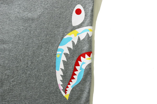 Picture No.6 of BAPE NEW MULTI CAMO SIDE SHARK RELAXED TEE 1H30-110-035