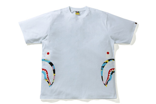 Picture No.10 of BAPE NEW MULTI CAMO SIDE SHARK RELAXED TEE 1H30-110-035