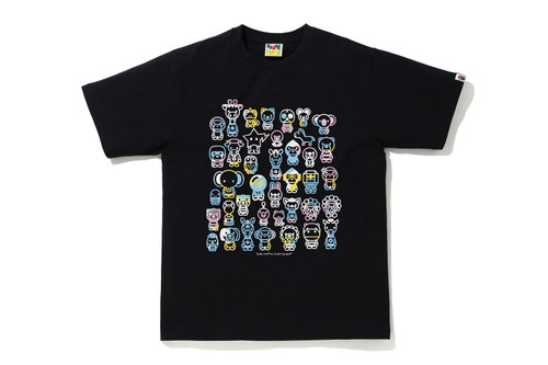 Picture No.1 of BAPE NEW MULTI CAMO A TO Z TEE 2H30-110-009