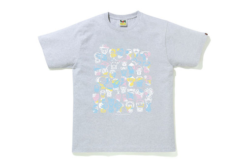 Picture No.4 of BAPE NEW MULTI CAMO A TO Z TEE 2H30-110-009