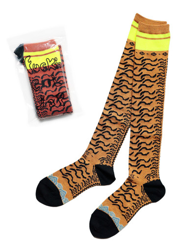 Picture No.1 of KAPITAL 156 Nepalese Tiger Pattern Skaters Knee High K2105XG562