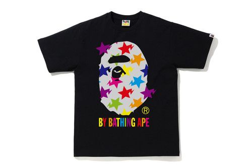 Picture No.1 of BAPE STA PATTERN BY BATHING APE TEE 1H80-110-035