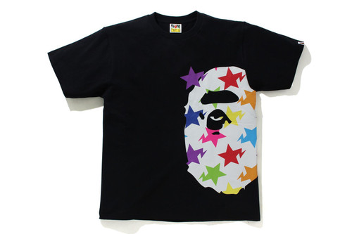 Picture No.1 of BAPE STA PATTERN SIDE BIG APE HEAD TEE 1H80-110-036