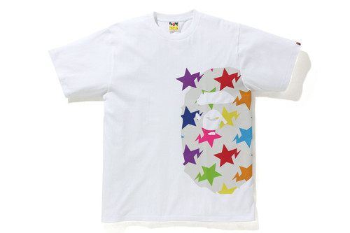 Picture No.3 of BAPE STA PATTERN SIDE BIG APE HEAD TEE 1H80-110-036