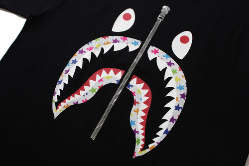 Picture No.2 of BAPE STA PATTERN SHARK TEE 1H80-110-037