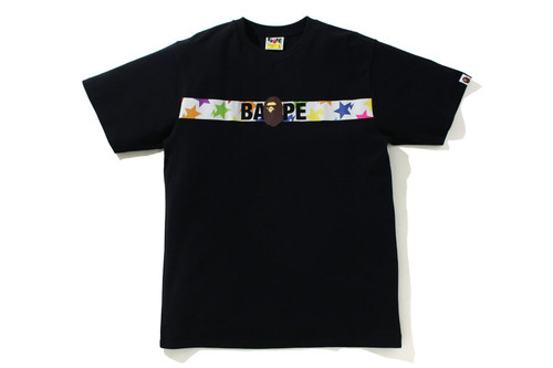 Picture No.1 of BAPE STA PATTERN TAPE APE HEAD TEE 1H80-110-058