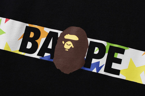 Picture No.3 of BAPE STA PATTERN TAPE APE HEAD TEE 1H80-110-058
