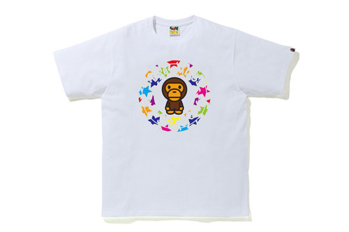 Picture No.2 of BAPE STA PATTERN MILO BUSY WORKS TEE 2H80-110-009
