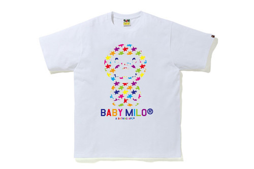 Picture No.2 of BAPE STA PATTERN BABY MILO TEE 2H80-110-010