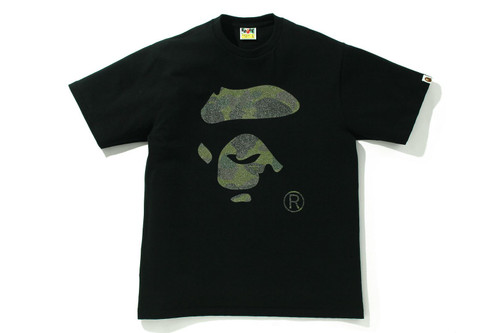 Picture No.1 of BAPE GLASS BEADS 1ST CAMO APE FACE TEE 1H80-110-025