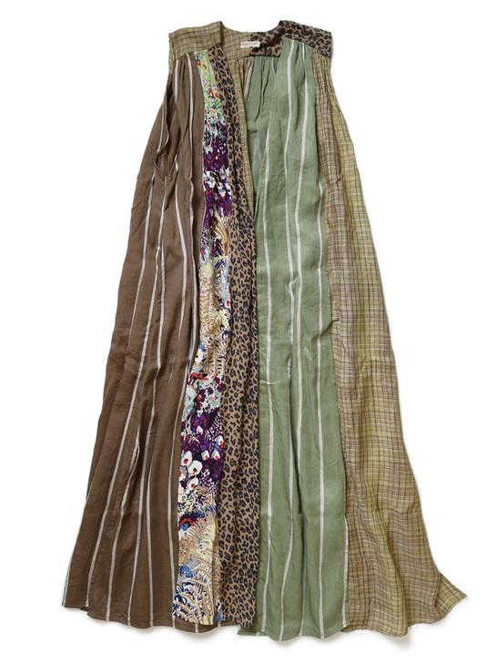 Picture No.1 of KAPITAL Crazy Patchwork Lamp Dress K2005OP168