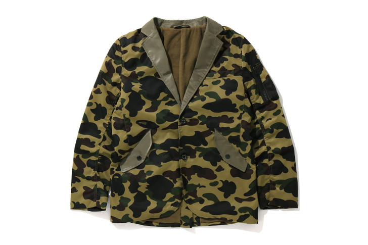 Picture No.1 of BAPE 1ST CAMO MILITARY TAILORED JACKET 7G80-142-002