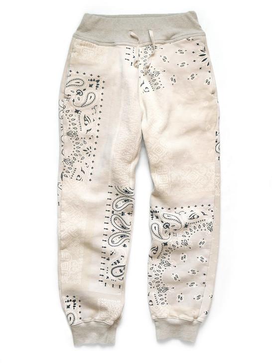 Picture No.1 of KAPITAL Fleece Bandana Pattern Sweat Rib Pants K1910LP112EK-1034