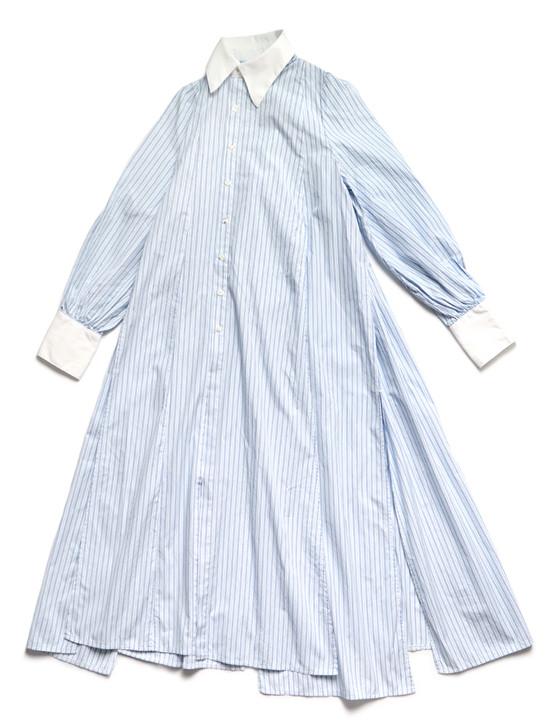 Picture No.1 of KAPITAL Cotton Striped Banyan Dress K2103OP023