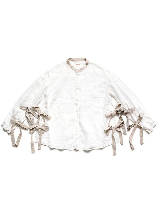 Picture No.1 of KAPITAL French Cross Linen Band Collar Tibetan Shirt K2104LS110