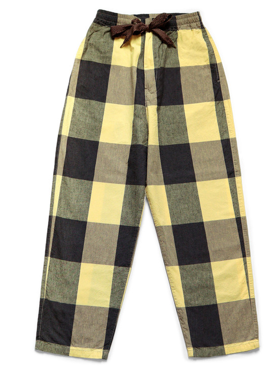 Picture No.1 of KAPITAL Cotton Linen Tibetan Gingham Check Easy Pants K2103LP052