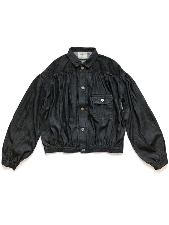 Picture No.1 of KAPITAL 8Oz Black Denim Gypsy Blouse 1ST JKT K2103LJ012EK-1118