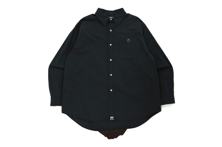 Picture No.1 of BAPE WASHED TWILL BIG APE HEAD LOOSE FIT SHIRT 1H80-131-006