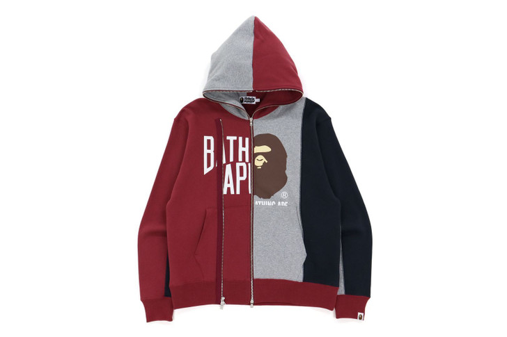 Picture No.1 of BAPE DOCKING RELAXED FIT FULL ZIP HOODIE 1H80-115-015
