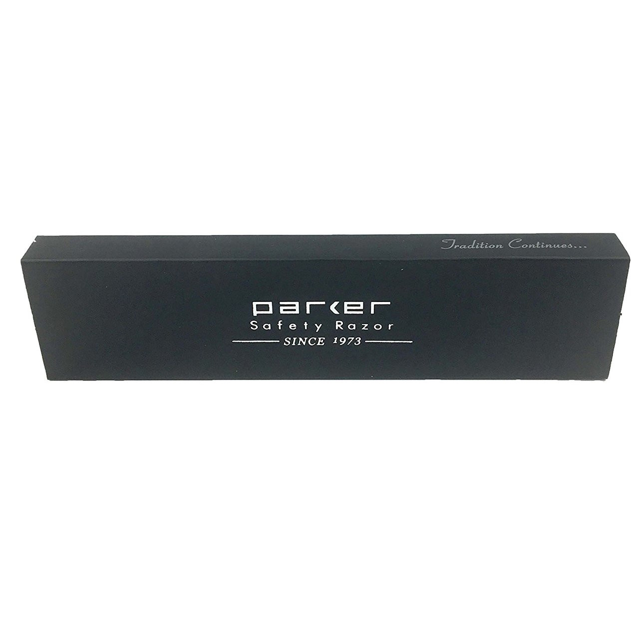 Parker SRW White Stainless Steel Clip Type Straight Barber Razor