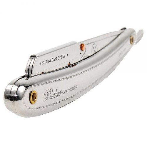 Parker SR1 Stainless Steel Clip Type Straight Edge Barber Razor