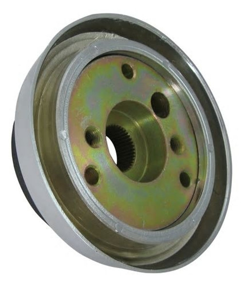 3 Hole Steering Wheel Hub, Chrome Finish