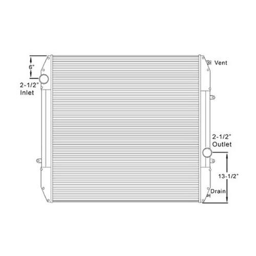 Plastic Aluminum Radiator With Oil Cooler 5