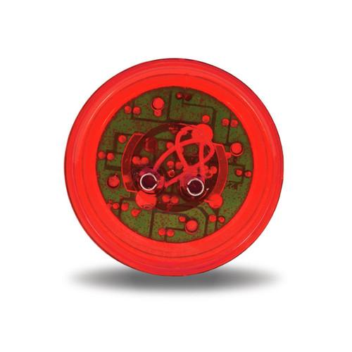 """2.5"""" Red Ribbed LED Marker Light"""