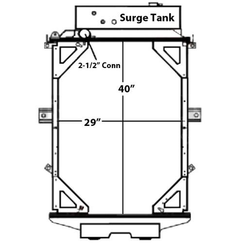 Copper Brass Radiator With Surge Tank