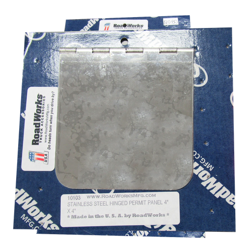 Stainless Steel Hinged Permit Panel 4in x 4in