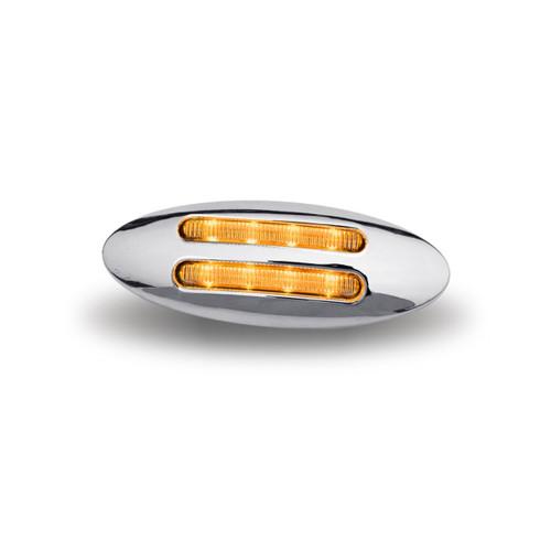 Flatline Clear Amber Mini LED Marker Light 8 Diodes (Trux Accessories)