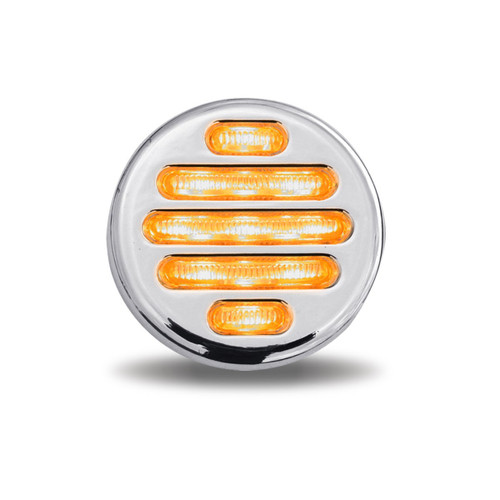 "2"" Flatline Clear Amber LED Marker Light 9 Diodes (Trux Accessories)"