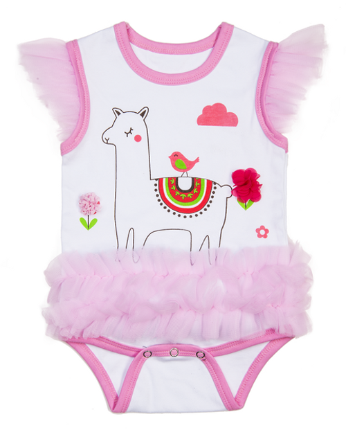 Llama diaper shirt w/tutu