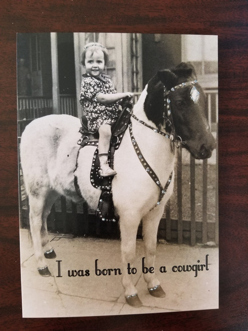 Card - born to be a cowgirl
