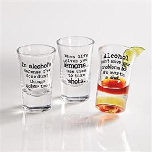 Sentiment Shot Glasses