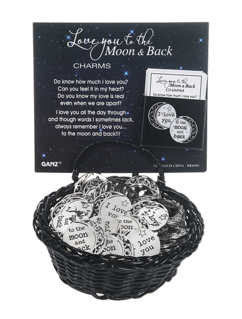 Love you to Moon and Back Charm