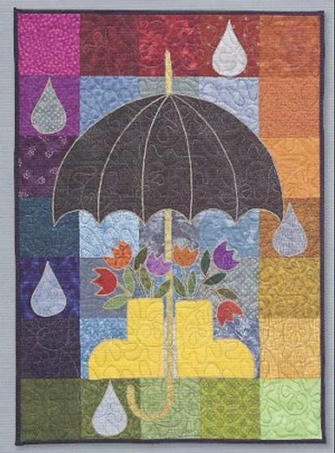 The front face of the April Showers wall quilt
