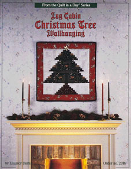 Log Cabin Christmas Tree Wallhanging