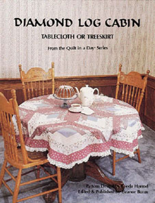Diamond Log Cabin Tablecloth or Treeskirt