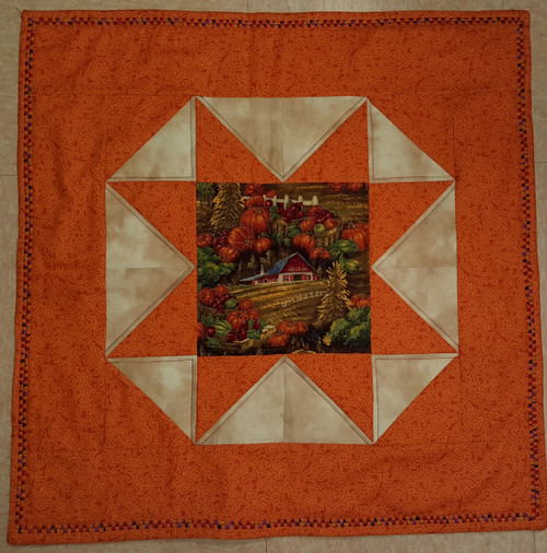 A view of the front of Fall Table Mat (Large) | Reversible