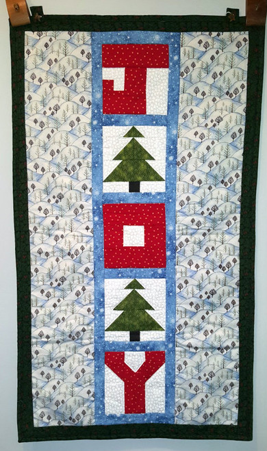 Front face of the Winter Joy Wall Quilt
